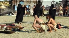 Gladiator parcae Stock Footage