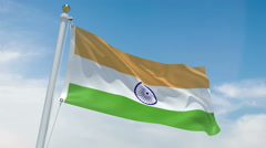 Indian flag in 4k Stock Footage