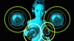 4k speaker music gogo sexy dancer audio sound disco - stock footage