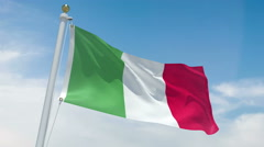 Italian flag in 4k Stock Footage