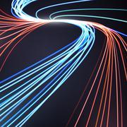 Abstract lines background, motion design vector illustration Stock Illustration