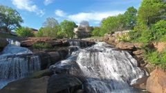 Downtown Greenville Waterfall Falls Park Stock Footage