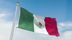Mexican flag in 4k Stock Footage