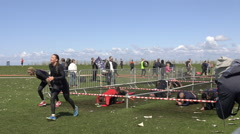 Toughest OCR Obstacle Course Race in Malmo, Sweden 2015 - CLIP 1 Stock Footage