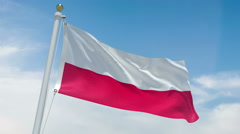 Poland flag in 4k Stock Footage