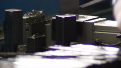 Train rails automated manufacturing line - stock footage