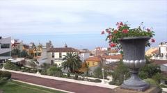 La Orotava Victoria Garden and Historic buildings, Tenerife, Spain Stock Footage