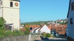 Street of Eisingen villadge Stock Footage