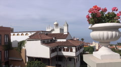 La Orotava historic town centre buildings, Tenerife, Spain Stock Footage