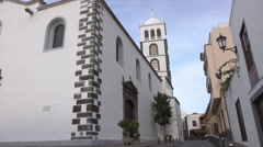 Church of Santa Ana, Garachico, Tenerife, Spain Stock Footage