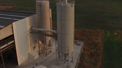 Aerial view over Oil storage tanks - stock footage