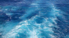 Cruise ship vessel wakes in the open waters Stock Footage