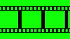 Film Strip Black and White Video Footage - stock footage