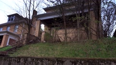Old Abandoned House Establishing Shot Stock Footage