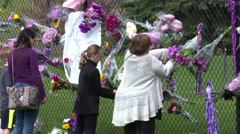 Memorial at Paisley Park on the death of rock music star Prince. Stock Footage