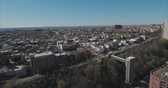 Jersey City Aerials Of Buildings Stock Footage