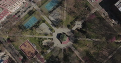 Jersey City Aerials Of Sun Designed Park Stock Footage