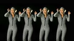 trippy cute female sexy music disco club lifestyle - stock footage