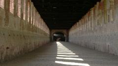 Escape route, Strada Coperta, castle of Vigevano PV, ITALY Stock Footage