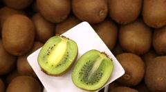 Kiwi fruit, tropical fruit Stock Footage