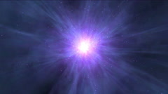 4k Nebula stars rays energy laser universe tunnels space,atomic fire radiation. - stock footage