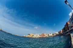 Waterfront of Chania Stock Photos