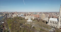Morningside Heights Stationary View Of The Riverside Church Stock Footage