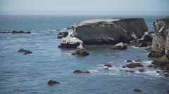 View of the rocky coast near Pismo Beach, California Stock Footage