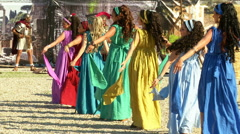 Roman dancer Stock Footage