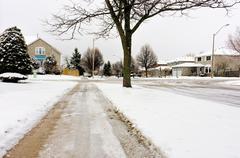 Winter in the suburbs Stock Photos