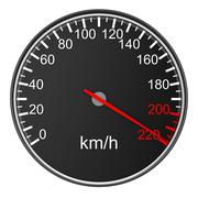 Speedometer on white background. 3D image Stock Illustration