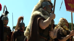 Roman legionary Stock Footage