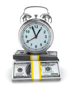 Time is money. Isolated image on white - stock illustration