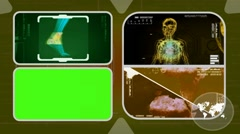 Foot - Analysis in software - examination - background yellow 02 - stock footage