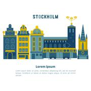 Stockholm city vector Piirros