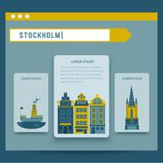 Stockholm set of elements for design - stock illustration