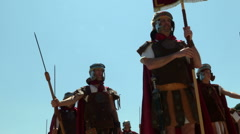 roman legionary - stock footage