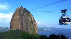Sugar Loaf Mountain Cable Car in Rio de Janeiro, Brazil Stock Footage
