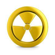 radiation symbol on white. Isolated 3D image - stock illustration