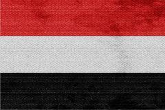 Yemen flag - stock illustration