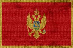 Montenegro flag - stock illustration