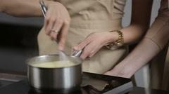 Preparing cream eclairs Stock Footage