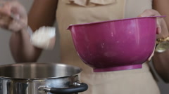 Stock Video Footage of Process of Baking cupcake