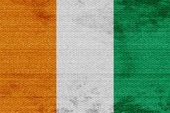 Ivory coast flag Stock Illustration