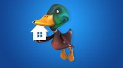 Computer animation - Fun duck Stock Footage