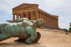 Temple of Concordia in Agrigento Stock Photos