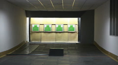 Some shooting targets - stock footage