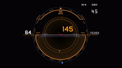 4k Radar GPS signal tech screen display,science sci-fi data computer navigation Stock Footage