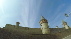 View on old castle Stock Footage