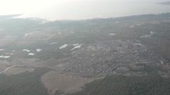 Bombay Mumbai Slums Aerial near Ocean Stock Footage